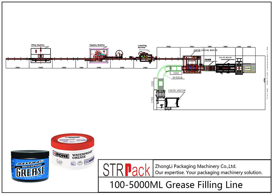 Automatyczna linia do napełniania smarem 100ML-5L