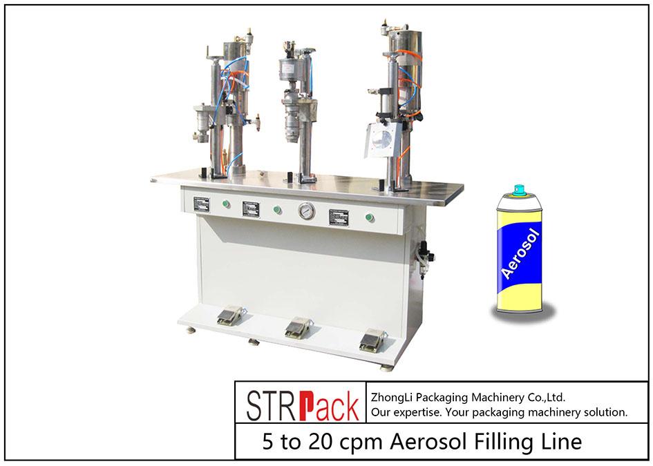 Półautomatyczna maszyna do napełniania aerozoli