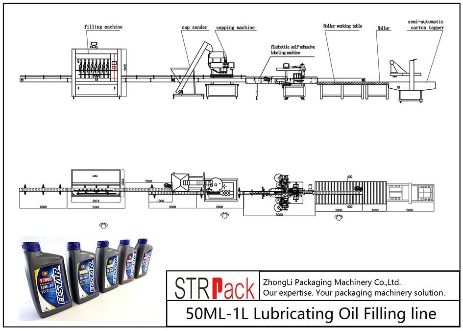 Automatyczna linia do napełniania olejem smarowym 50ML-1L