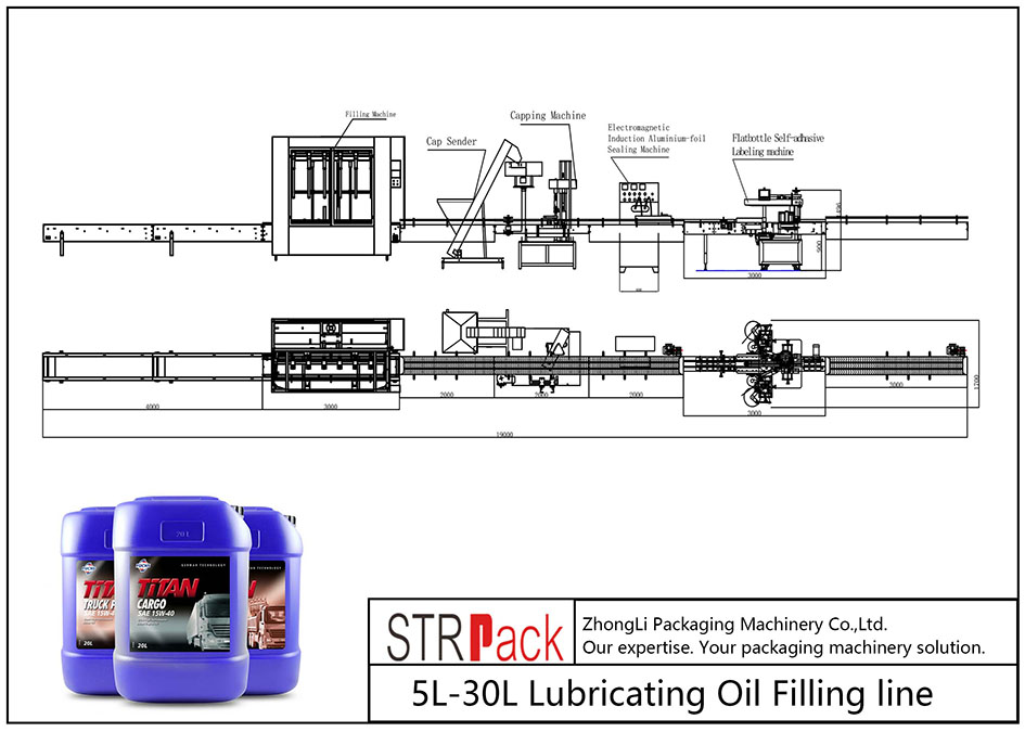 Automatyczna linia do napełniania olejem smarowym 5L-30L
