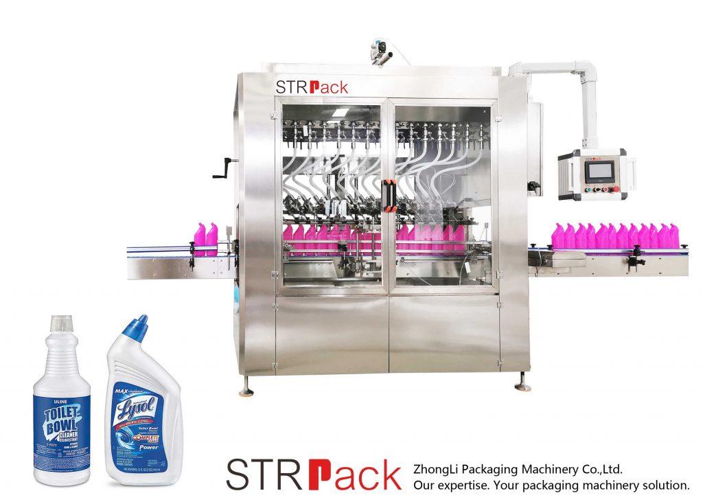Maszyna do napełniania płynów butelek o skośnej szyi