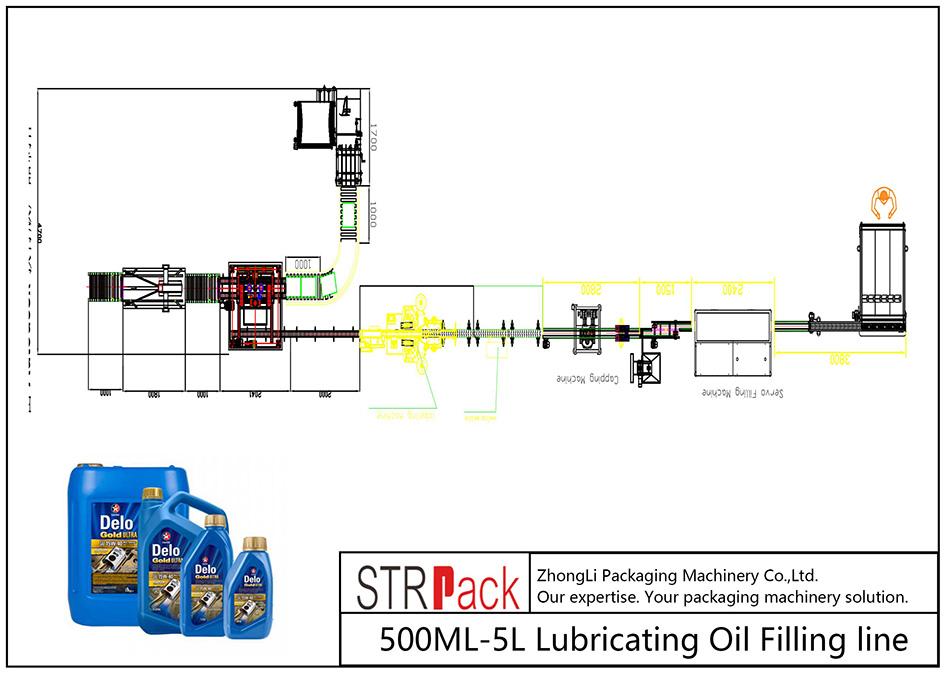 Automatyczna linia do napełniania olejem smarowym 500ML-5L