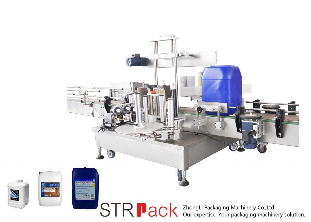 Automatyczna dwustronna maszyna do etykietowania dla bębna 5-25L