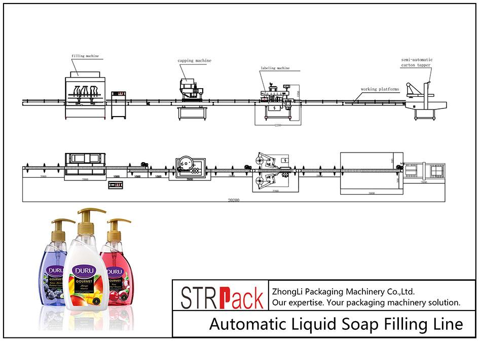 Automatyczna linia do napełniania mydła w płynie