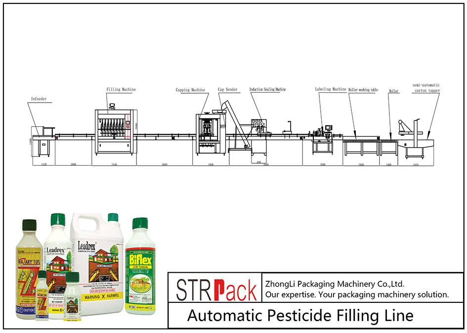 Automatyczna linia do napełniania pestycydami