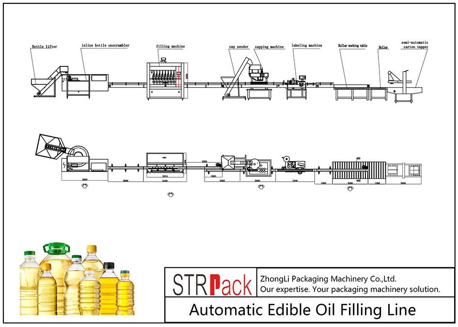 Automatyczna linia do napełniania olejem jadalnym