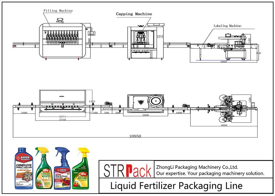 Automatyczna linia do pakowania nawozów płynnych