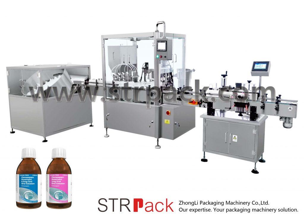 Maszyna do napełniania i zamykania syropu w płynie doustnym