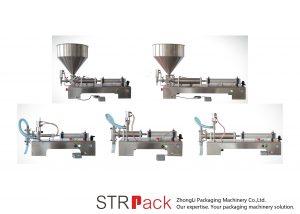Półautomatyczna tłokowa maszyna do napełniania płynów
