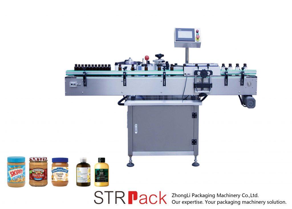 Pionowa samoprzylepna okrągła maszyna do etykietowania butelek